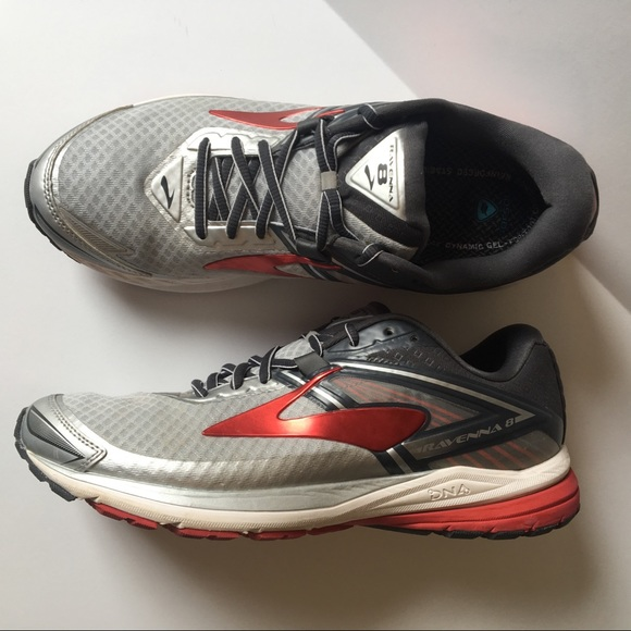 Brooks Other - Brooks Ravenna 8 Men's Running Shoes Red Gray